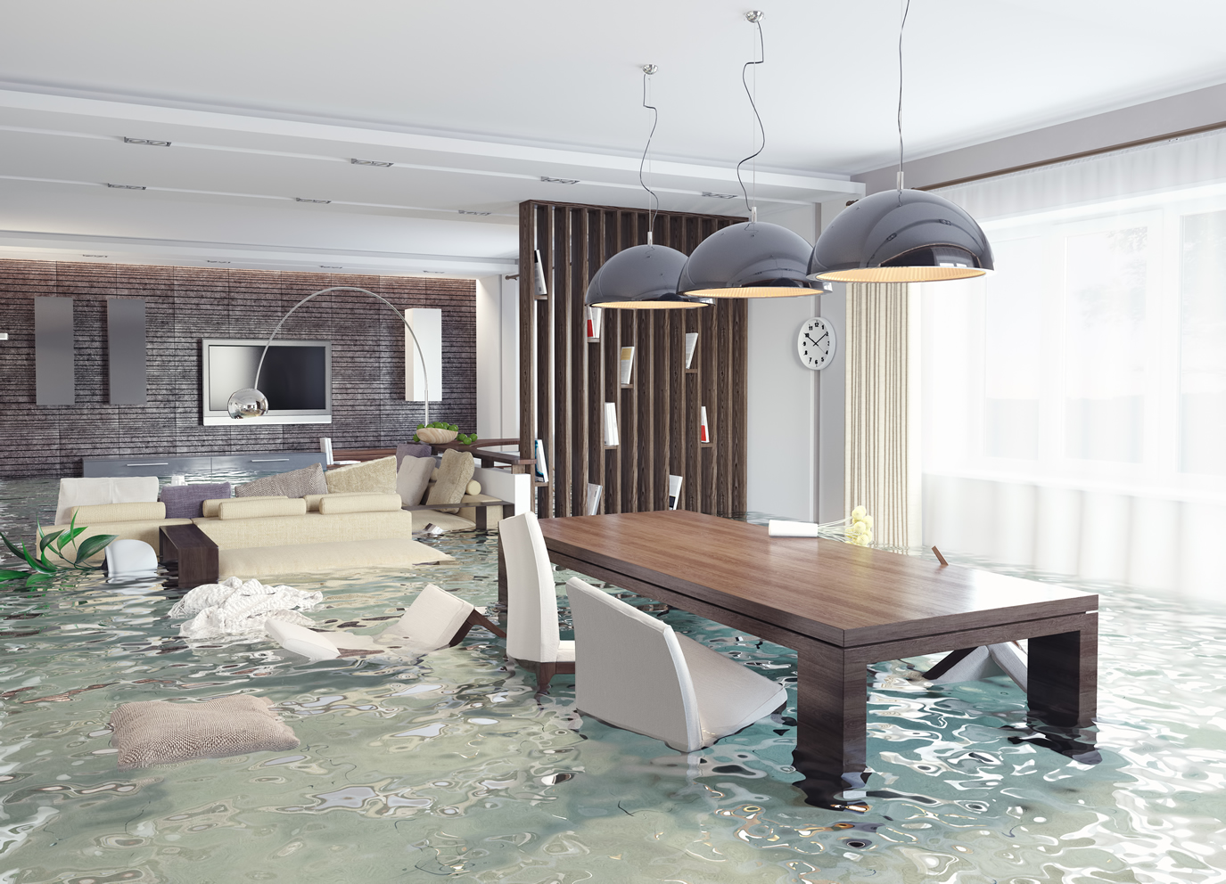 Dynamic Water Damage Restoration Background