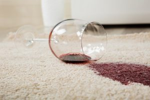 Red Wine Stain in Carpet