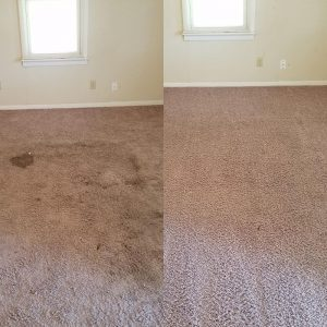 Carpet Cleaning Before and After Tulsa
