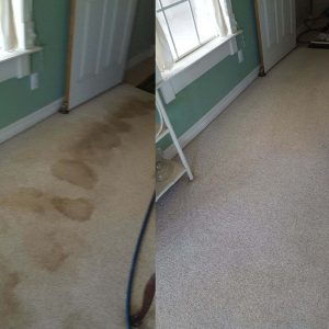 Before and After Tulsa Capet Cleaning