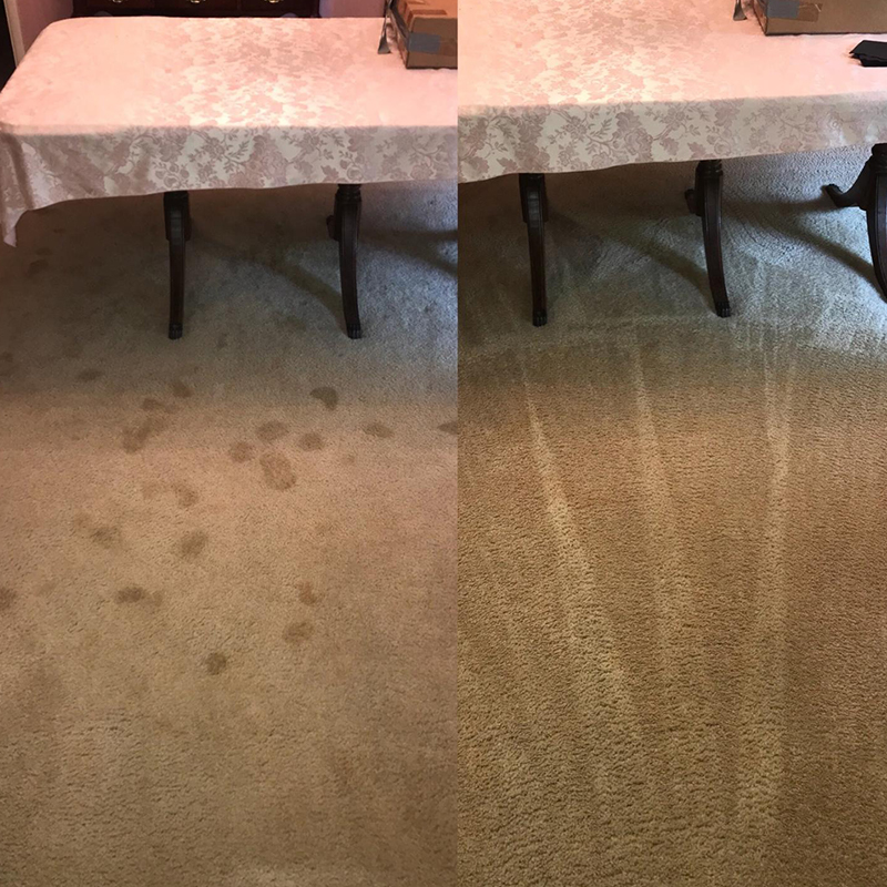 Before and After Tulsa Carpet Cleaning