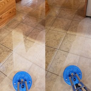 Tulsa Tile Cleaning Before and After